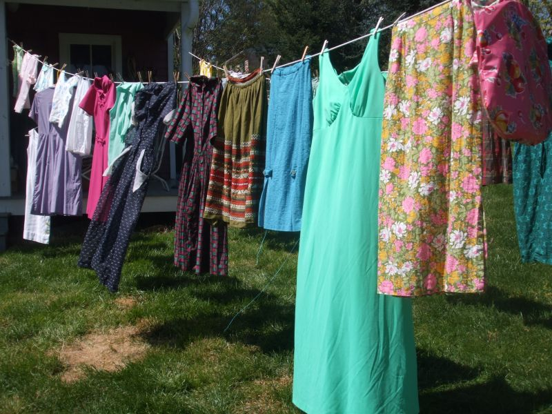 Nothing better than cool vintage clothes fresh off the clothesline.